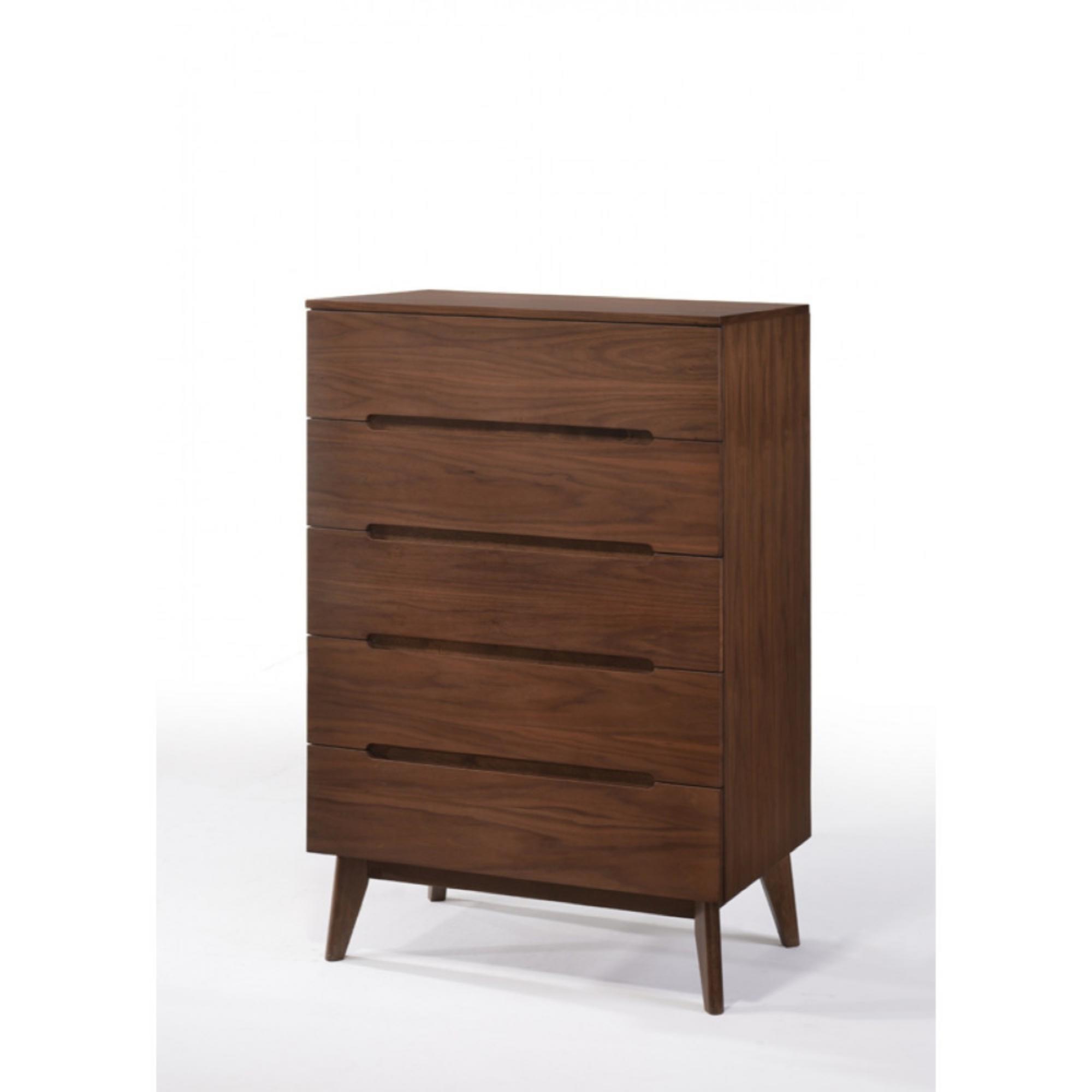 Corrigan Studio Leta Wooden 5 Drawers Chest Wayfair
