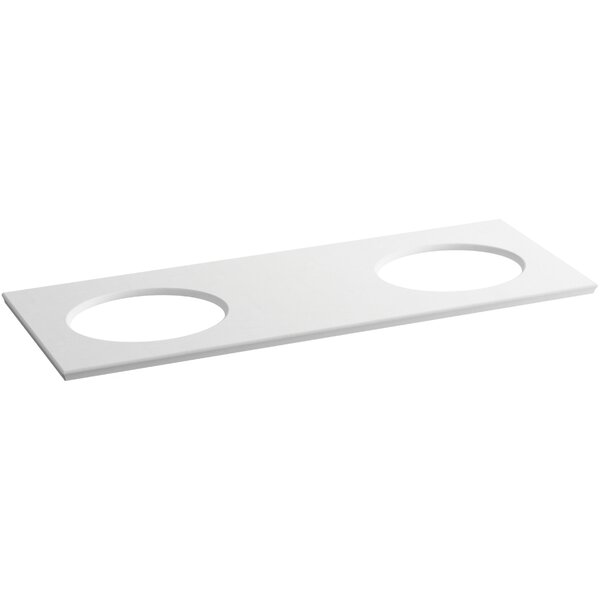 Solid/Expressions 61 Double Bathroom Vanity Top by Kohler