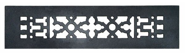 2.25 x 12 Iron Grille in Black by Acorn