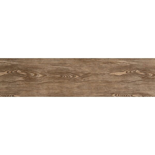 Alpine 6 x 36 Porcelain Wood-Look Plank Tile in Cafe by Emser Tile