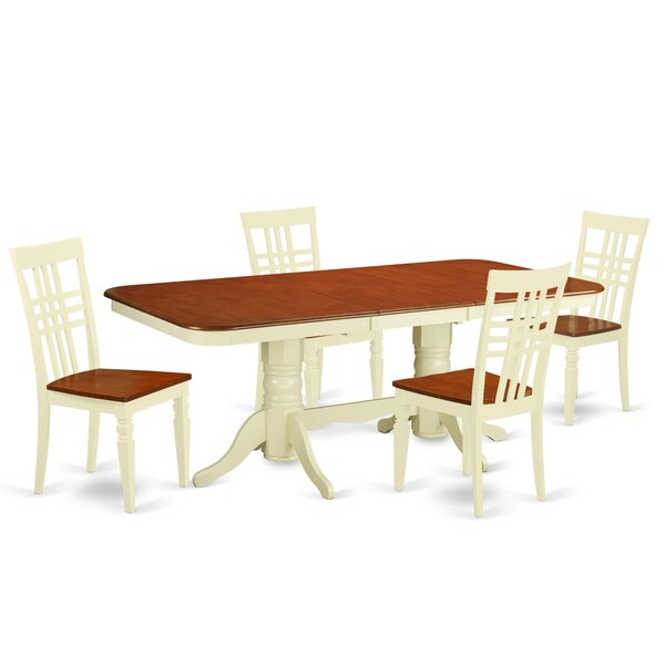 Beesley 5 Piece Rectangular Wood Dining Set by Darby Home Co