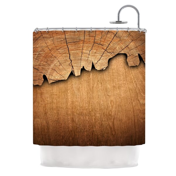 Natural Wood by Susan Sanders Rustic Nature Shower Curtain by East Urban Home