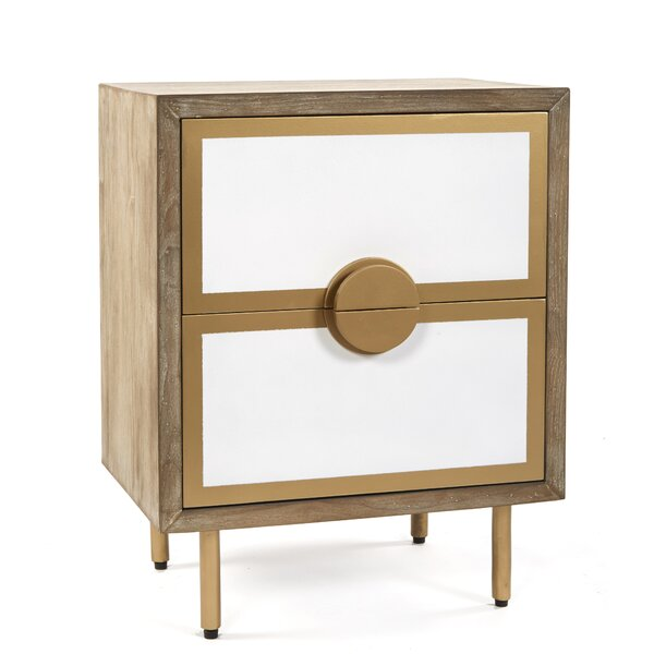 Markel 2 Drawer Nightstand by George Oliver