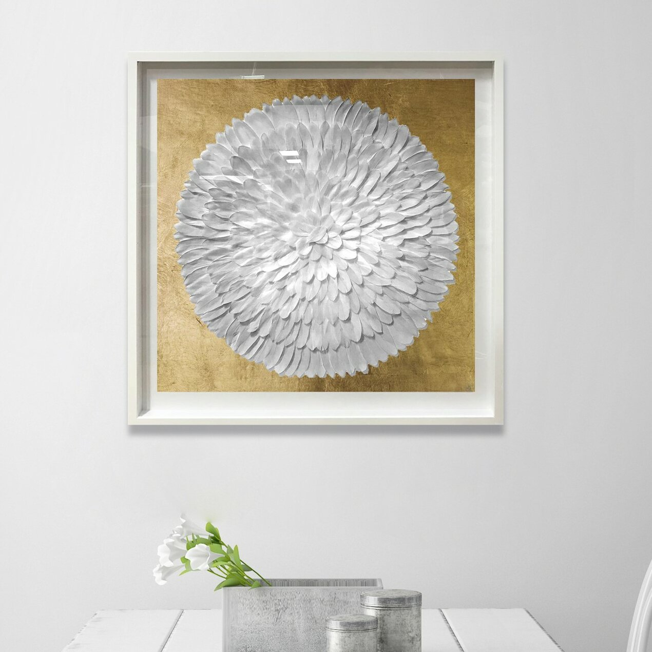 Oliver Gal Feather Circle Framed Wall