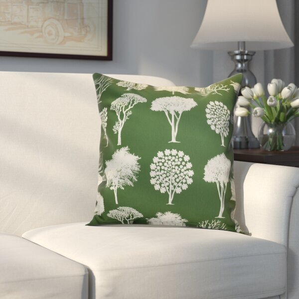 Miller Field of Trees Floral Outdoor Throw Pillow by Alcott Hill