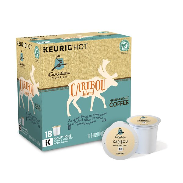 Caribou Blend Coffee K-Cup (Pack of 108) by Keurig