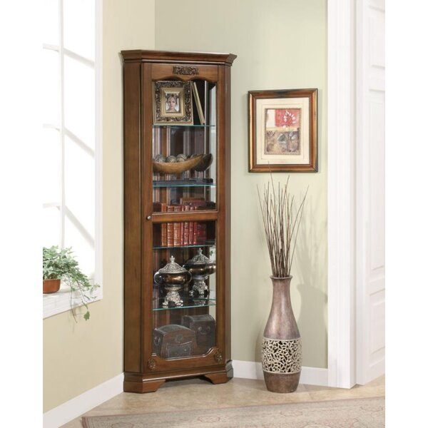 Darrens Corner Curio Cabinet By Alcott Hill Great price