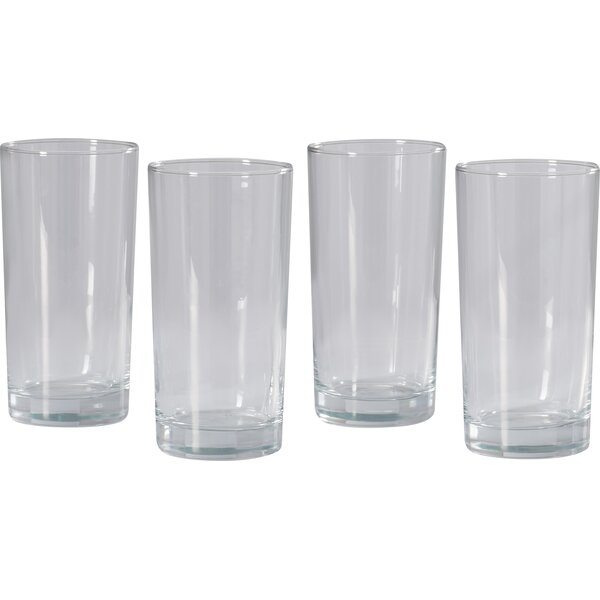 Hayes 12.5 Oz. Straight Sided Highball Glass (Set of 4) by Mint Pantry