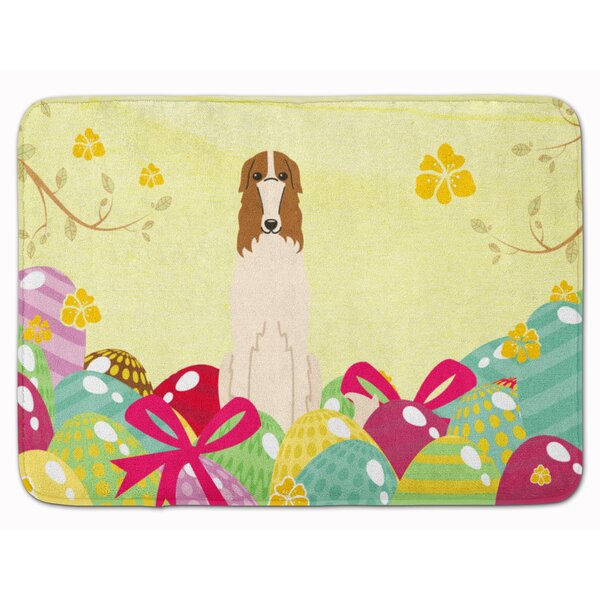 Easter Eggs Borzoi Memory Foam Bath Rug
