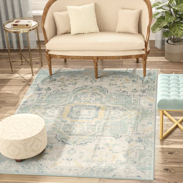 Chauncey Blue Area Rug by Bungalow Rose