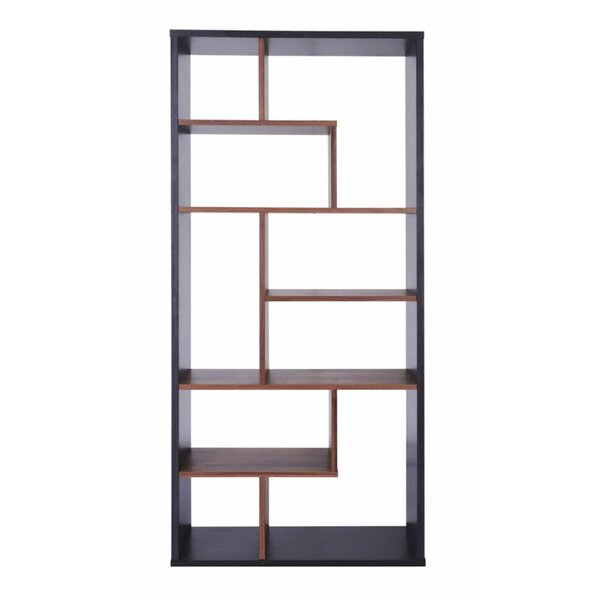 Vinalhaven Spacious Wooden Geometric Bookcase By Wrought Studio