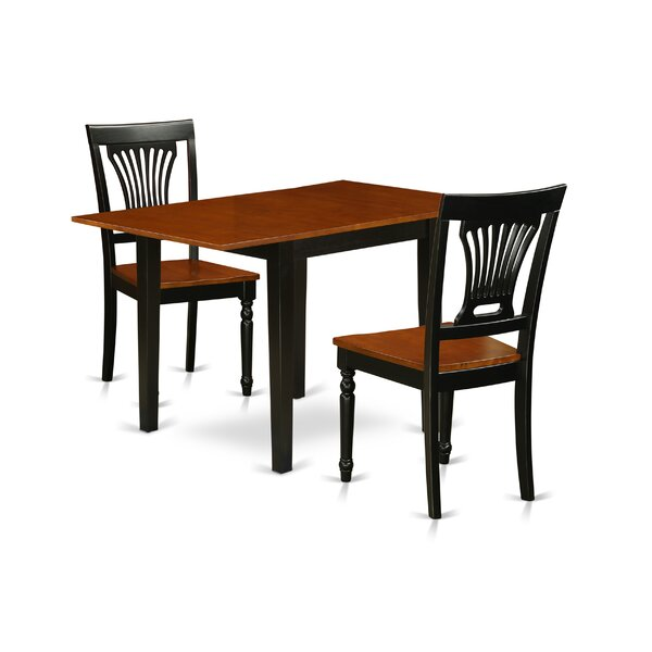 Belchertown Drop Leaf Solid Wood Dining Set by Ophelia & Co. Ophelia & Co.