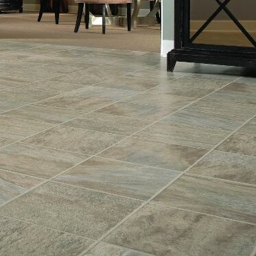 GardenStone 12 x 48 x  8mm Tile Laminate Flooring in Silver Sage by Bruce Flooring