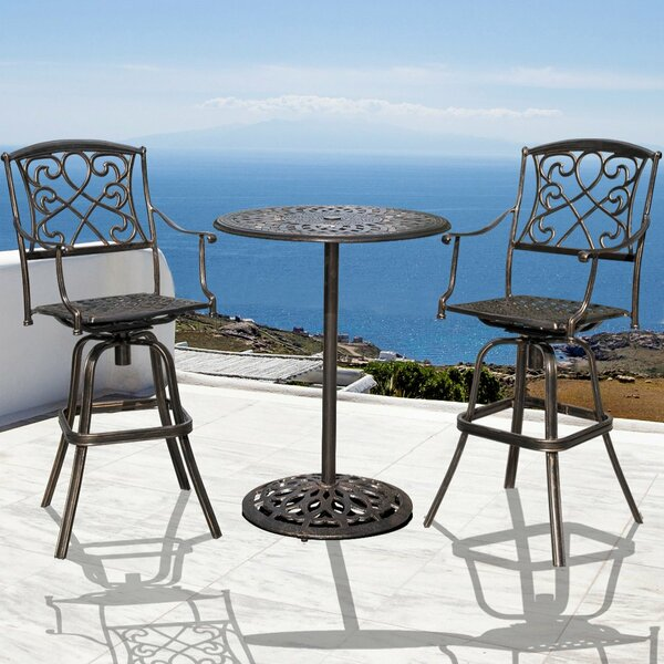 Sabion Sundale Outdoor 2 Piece Bistro Set by Fleur De Lis Living