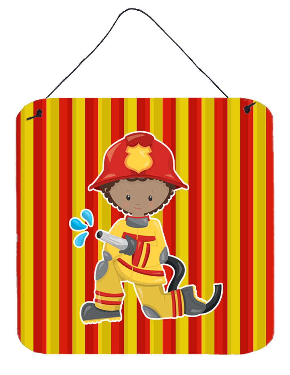 Zoomie Kids Fireman Boy Metal Wall Décor | Wayfair