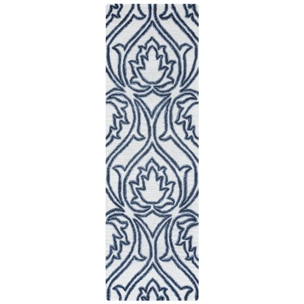 Gillmore Hand-Tufted Blue/Beige Area Rug by Alcott Hill