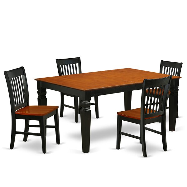 Mattalyn 5 Piece Extendable Solid Wood Dining Set by Winston Porter Winston Porter