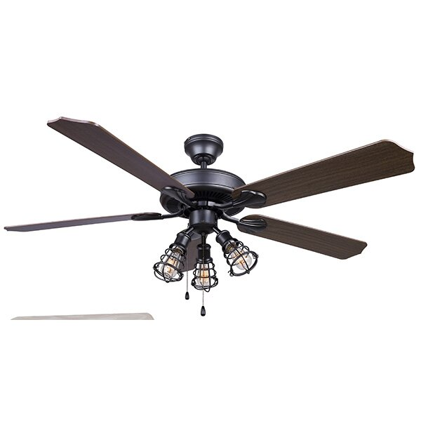 52 Loess 5 Blade Ceiling Fan by Trent Austin Design