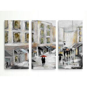'Sunday Market' Acrylic Painting Print Multi-Piece Image on Wrapped Canvas by Red Barrel Studio