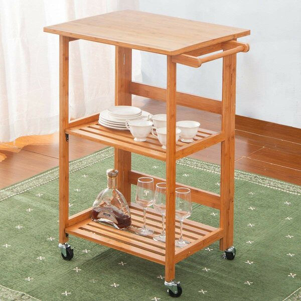 Arkadelphia Kitchen Cart by Ebern Designs