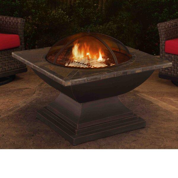 Delaware Steel Wood Burning Fire Pit table by Sunjoy