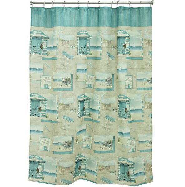 Beach Cruiser Polyester Shower Curtain by Bacova Guild