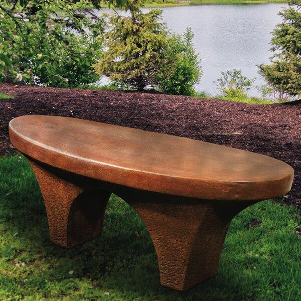 River Stone Garden Bench by Henri Studio Henri Studio