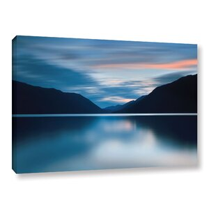 Lake Crescent Dusk Photographic Print on Wrapped Canvas by Loon Peak