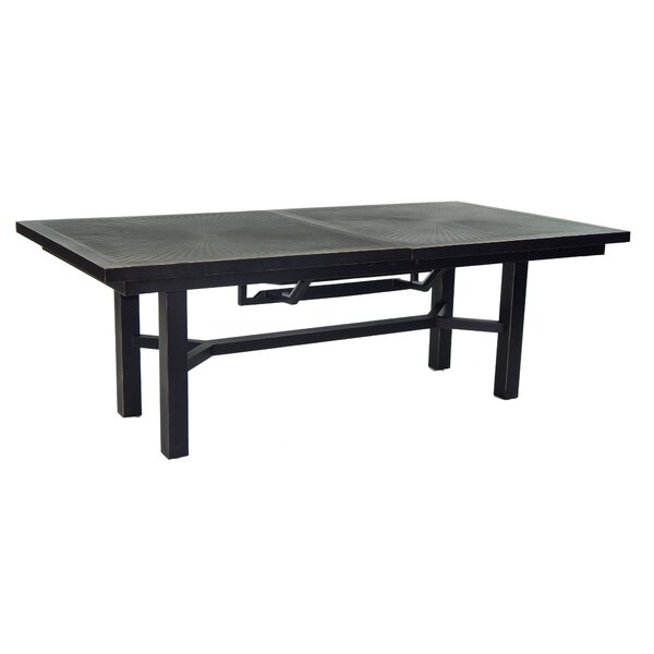 Tarrance Classical Extendable Aluminum Dining Table by Leona