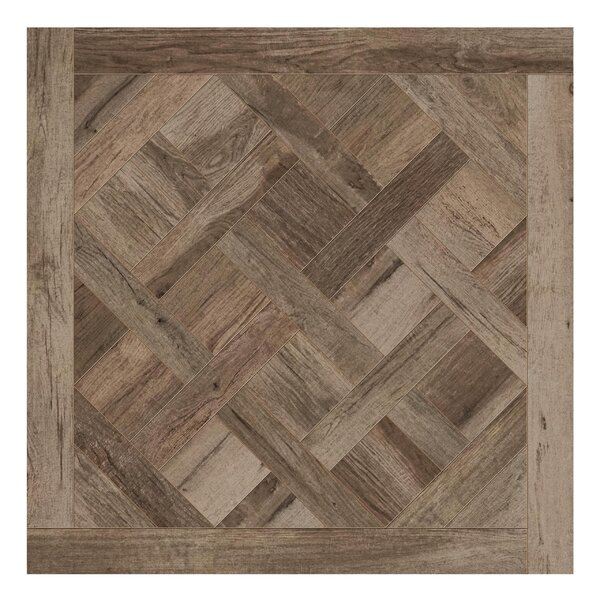 Travel Cassettone Décor 24 x 24 Porcelain Wood Look Tile in West Brown by Travis Tile Sales