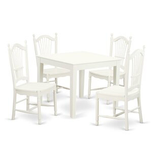 Oxford 5 Piece Dining Set by East West Furniture