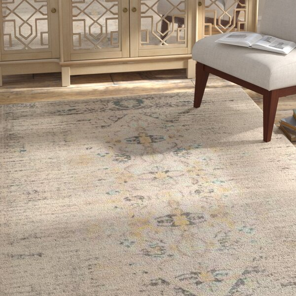 Sylvia Grey Area Rug by Bungalow Rose