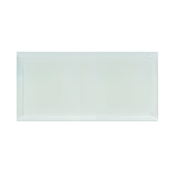 Frosted Elegance 8 x 16 Glass Field Tile in Matte Arctic by Abolos