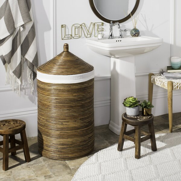 Rattan Laundry Hamper with Liner by Mistana