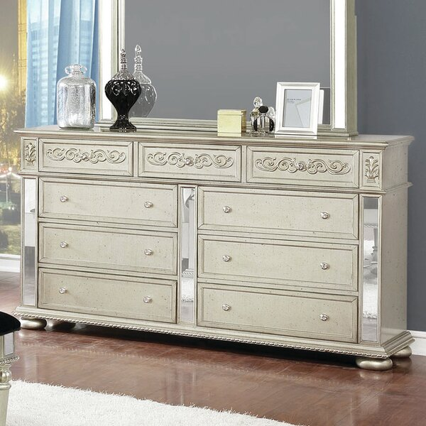 Sherlock 9 Drawer Double Dresser by Rosdorf Park