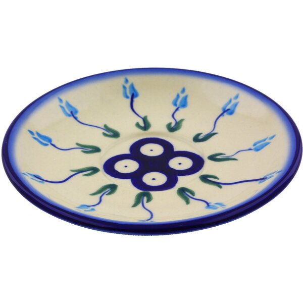 Floral Peacock 5.5 Saucer by Polmedia