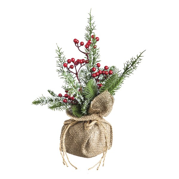 Pinecone and Berry Tabletop Floral by Evergreen Enterprises, Inc