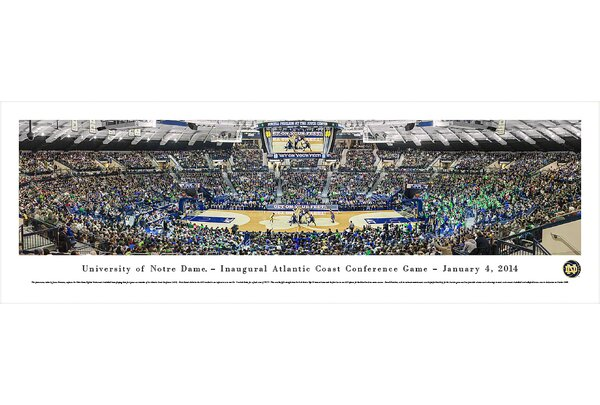 NCAA Notre Dame, University of - Basketball - Inaugural Acc by James Simmons Photographic Print by Blakeway Worldwide Panoramas, Inc