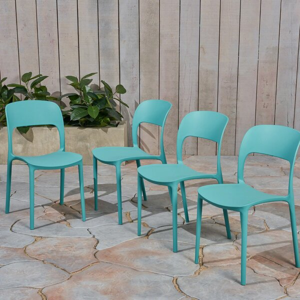 Doerr Stacking Patio Dining Chair (Set Of 4) By Ebern Designs