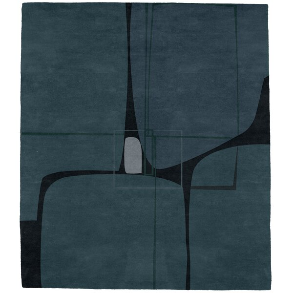 Keystone Hand-Tufted Wool Blue Area Rug