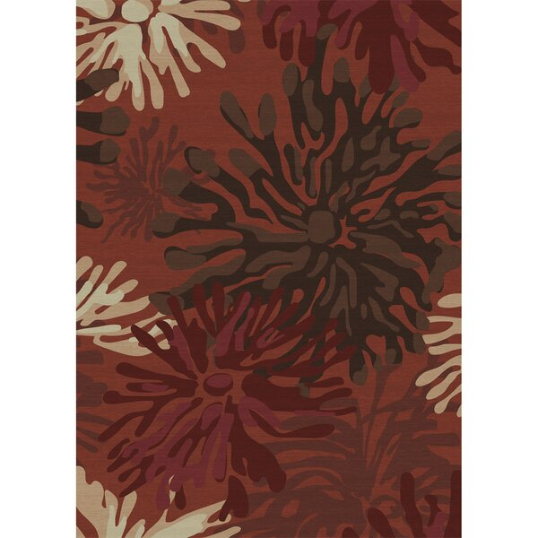 Stain Resistant Red Indoor/Outdoor Area Rug by Ruggable