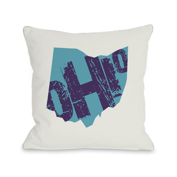 Ohio State Throw Pillow by One Bella Casa