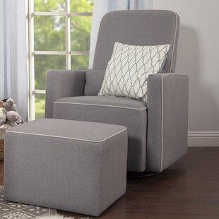 Olive Swivel Glider and Ottoman DaVinci
