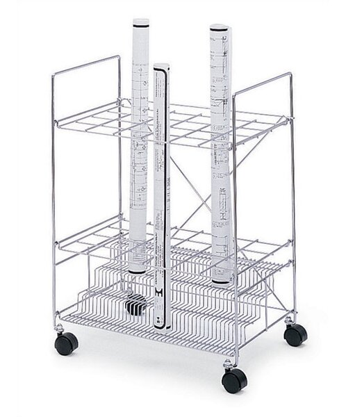 Wire Roll File Filing Cart by Symple Stuff