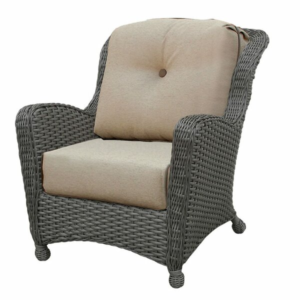 Adriel Patio Chair with Sunbrella Cushions by Rosecliff Heights