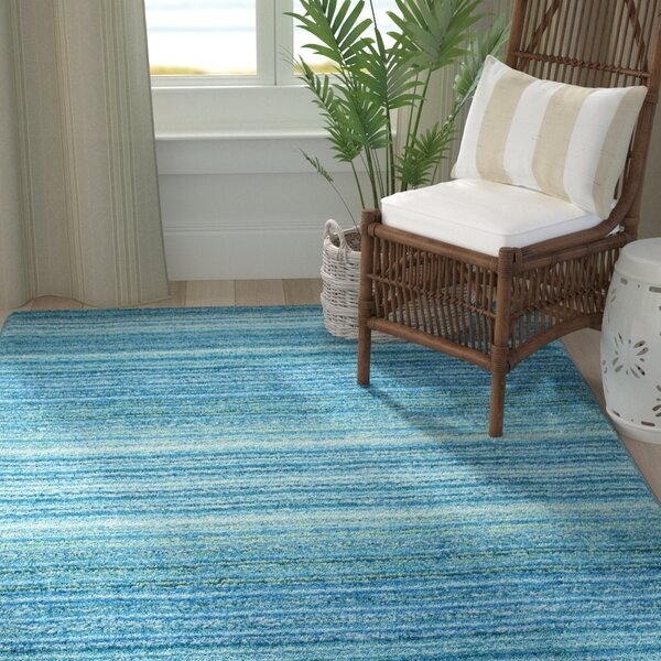 Alexandro Hand-Tufted Sky Blue Area Rug by George Oliver