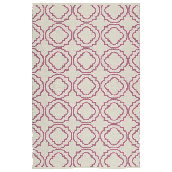 Bockman Cream/Pink Indoor/Outdoor Area Rug by Red Barrel Studio