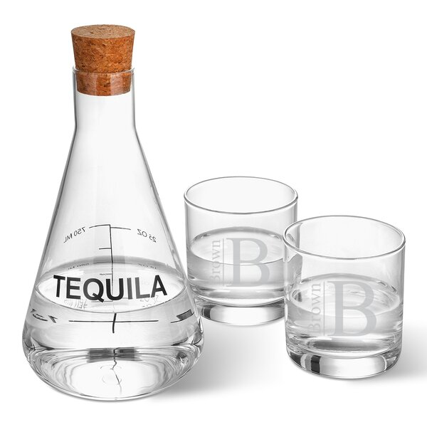 Weisser Personalized Tequila 3 Piece Beverage Serving Set by Latitude Run
