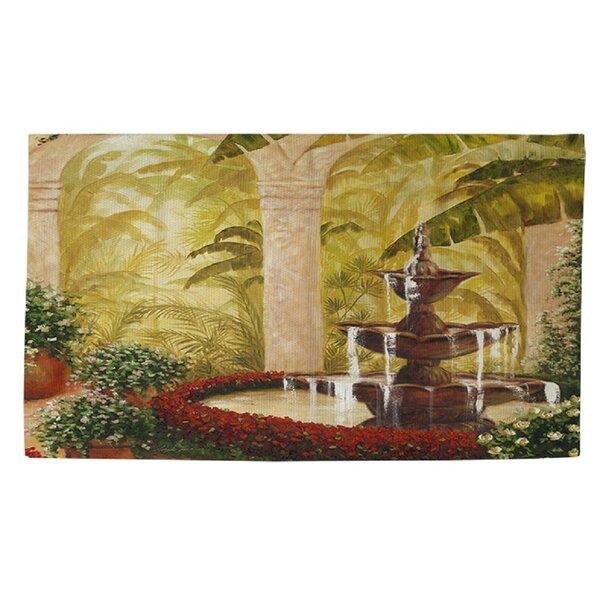 Palm Garden II Green Area Rug by Manual Woodworkers & Weavers
