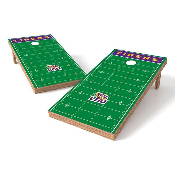 NCAA Football Field Cornhole Game Set by Tailgate Toss